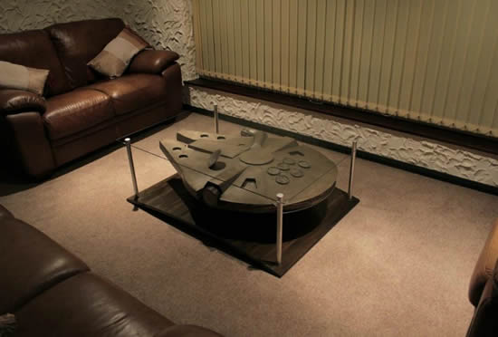 the han solo and millennium falcon coffee tables. | dj storm's blog