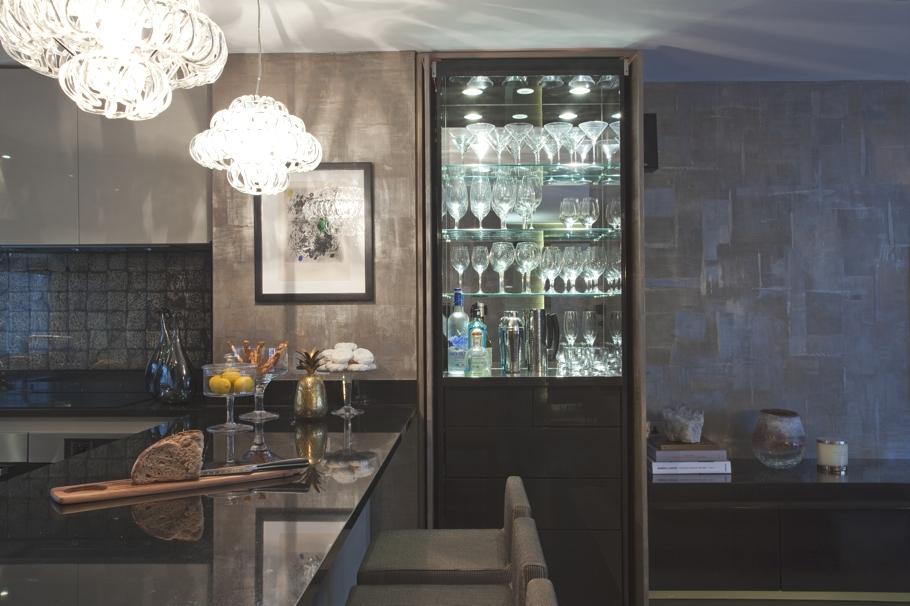 London property with dark atmospheric interiors through for Luxury residential interior designers london