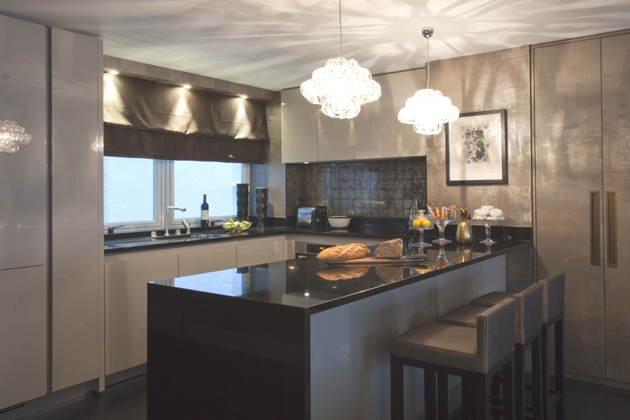 London property with dark atmospheric interiors through for Interior design south london