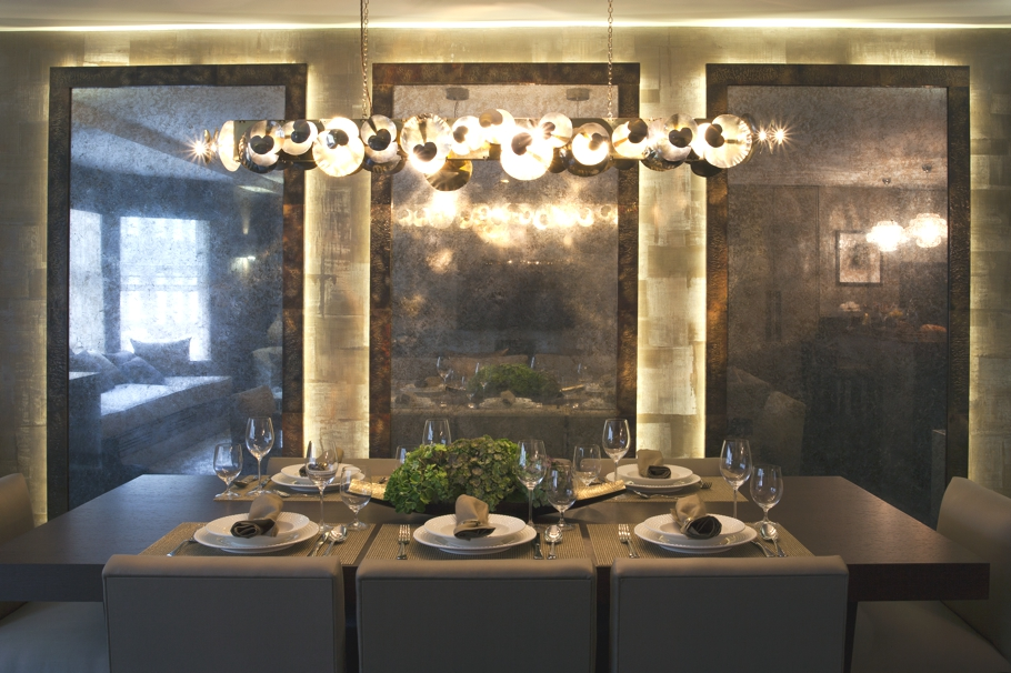 london property with dark atmospheric interiors through texture and