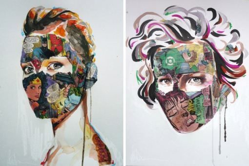 Comic-Book-Portraits-by-Sandra-Chevrier-2