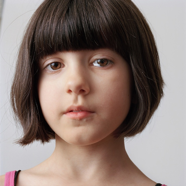 8-year-old girl with brown hair, 2009