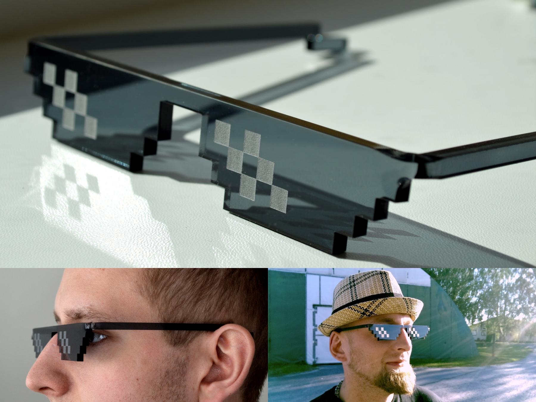 Как на фото сделать очки